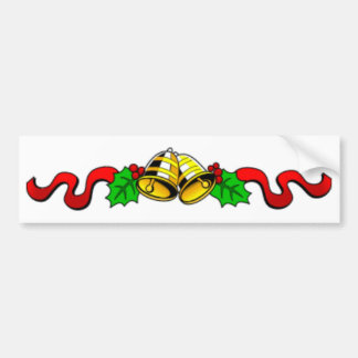 christmas-bells-ribbon bumper sticker
