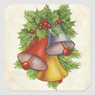 Christmas Bells Square Sticker