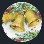 "Christmas Bells Sticker<br><div class=""desc"">fun design in public domain</div>"
