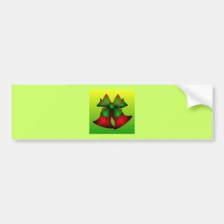 Christmas Bells V Car Bumper Sticker