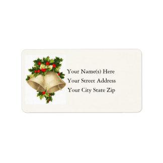 Christmas Bells Vintage Address Label