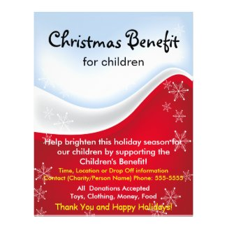 Christmas Benefit for Children Flyer