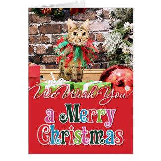 Christmas - Bengal Cat - Jack Card