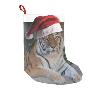 Christmas Bengal Tiger Small Christmas Stocking