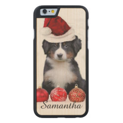 Carved ® iPhone 6 Bumper Wood Case with Bernese Mountain Dog Phone Cases design