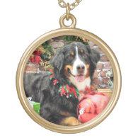 Christmas - Bernese Mountain Dog - Chloe Necklace