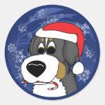 Christmas Bernese Mountain Dog Classic Round Sticker