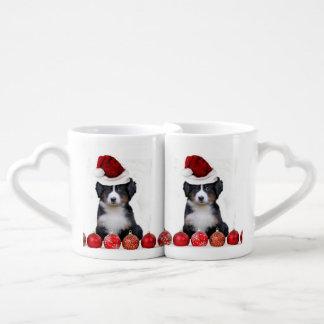 Christmas Bernese Mountain Dog Couples' Coffee Mug Set