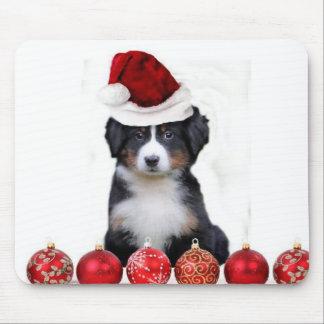 Christmas Bernese Mountain dog Mouse Pad