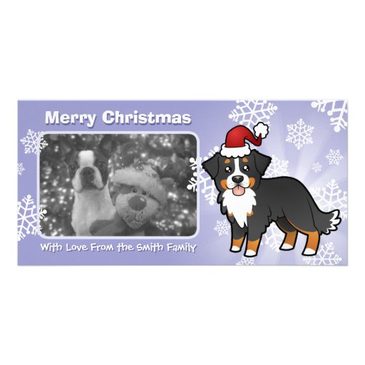 Christmas Bernese Mountain Dog Photo Greeting Card