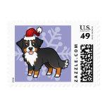 Christmas Bernese Mountain Dog Postage