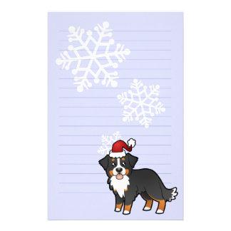 Christmas Bernese Mountain Dog Stationery