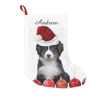 Christmas Bernese Mountain Dog stocking Small Christmas Stocking