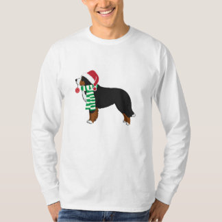 Christmas Bernese Mountain Holiday Dog T-Shirt