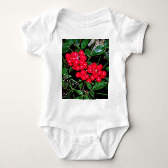 Christmas Berries Baby Bodysuit