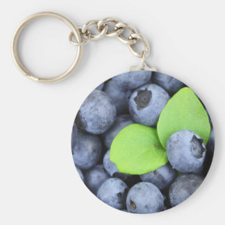 Christmas berries Blueberries Keychain
