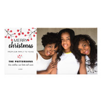 Christmas Berries Merry Christmas Photo Card
