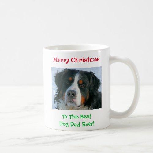 Christmas Best Dog Dad Ever Custom Pet Photo Gift Coffee Mug