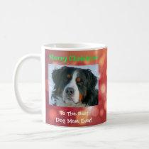 Christmas Best Dog Mom Ever Custom Pet Photo Gift Coffee Mug