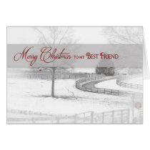 Christmas- Best Friend - Horse Ranch-Winter/Snow Card