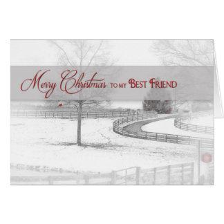 Christmas- Best Friend - Horse Ranch-Winter/Snow Card