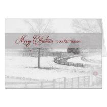 Christmas - Best Friends - Horse Ranch-Winter/Snow Card