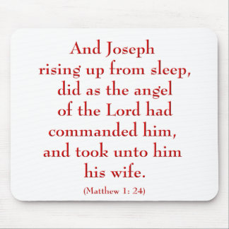 Christmas Bible Quote Mouse Pad