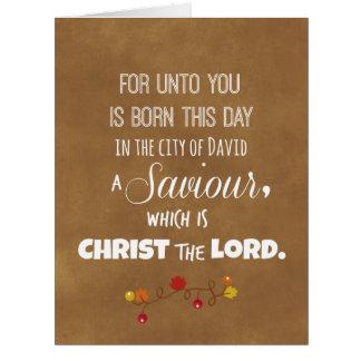 Christmas Bible Verse from Luke Card