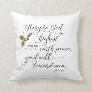 christmas bible verse pillow