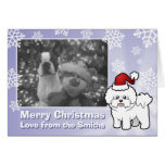 Christmas Bichon Frise (2 lines) Card
