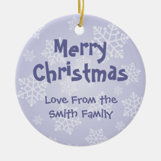 Christmas Bichon Frise (add your own message) Christmas Ornament