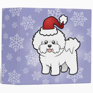 Christmas Bichon Frise Binder