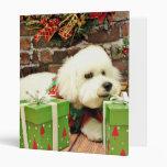 Christmas - Bichon Frise - Cooper Binders