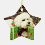 Christmas - Bichon Frise - Cooper Christmas Ornament