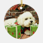 Christmas - Bichon Frise - Cooper Ornament