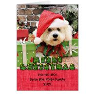 Christmas - Bichon Frise - Daisy Greeting Cards