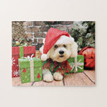 Christmas - Bichon Frise - Daisy Jigsaw Puzzles