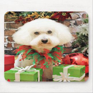 Christmas - Bichon Frise - Harley Mousepads