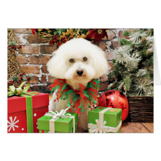 Christmas - Bichon Frise - Harley Stationery Note Card