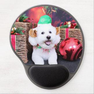 Christmas - Bichon Frise - Jack Gel Mouse Pad