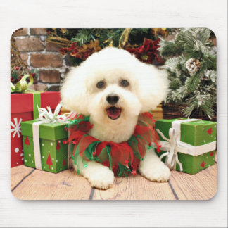 Christmas - Bichon Frise - Lilly Mousepads