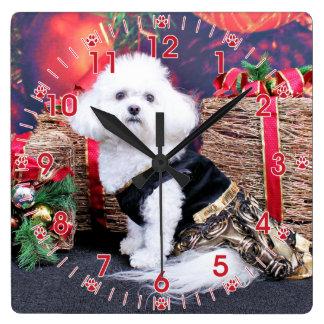 Christmas - Bichon Frise - Mia Wallclock