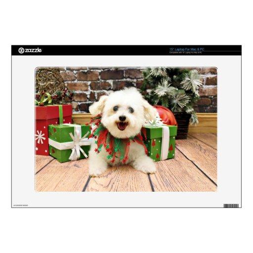 "Christmas - Bichon Frise - Missy Skin For 15"" Laptop"