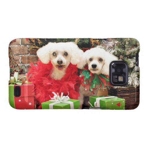 Christmas - Bichon Frise - Satchel and P.J. Samsung Galaxy S2 Cover