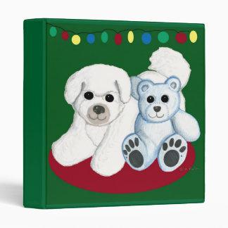 Christmas Bichon Frise & Teddy Scrapbook Vinyl Binders