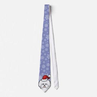 Christmas Bichon Frise Tie