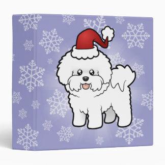 Christmas Bichon Frise Vinyl Binder