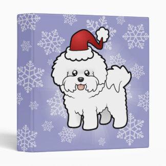 Christmas Bichon Frise Vinyl Binders