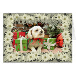 Christmas - Bichon Frise - Woody Cards