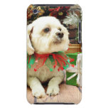 Christmas - Bichon Frise - Woody Barely There iPod Cases